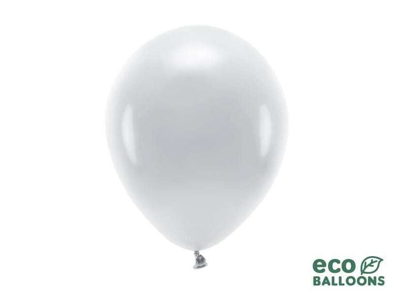 Eco Balloons 26cm pastel, grey (1 pkt / 10 pc.) Globos Party Deco