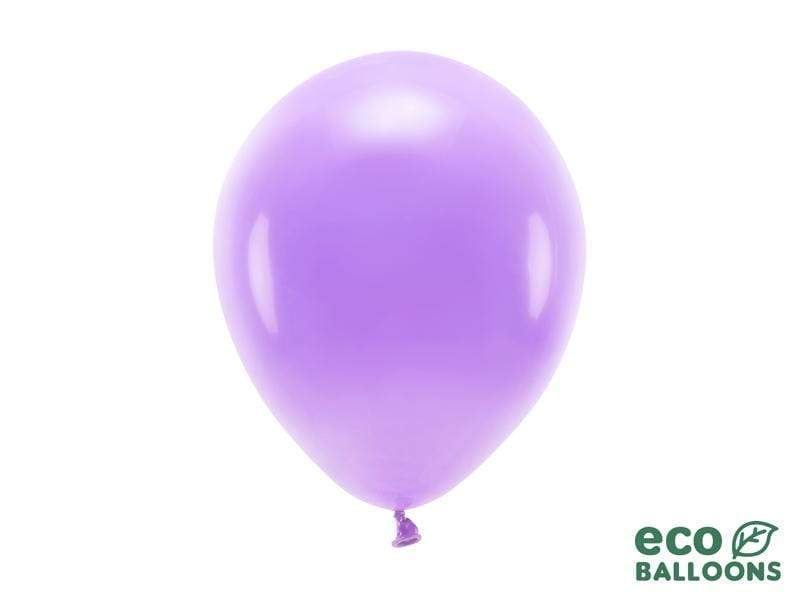 Eco Balloons 26cm pastel, lavender (1 pkt / 10 pc.) Globos Party Deco