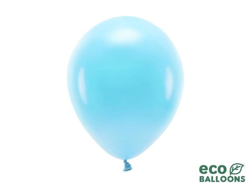 Eco Balloons 26cm pastel, light blue (1 pkt / 10 pc.) Globos Party Deco