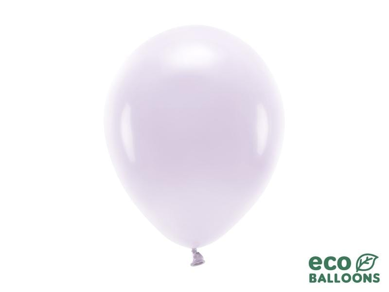 Eco Balloons 26cm pastel, light lilac (1 pkt / 10 pc.) Globos Party Deco