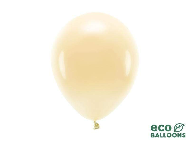 Eco Balloons 26cm pastel, light peach (1 pkt / 10 pc.) Globos Party Deco