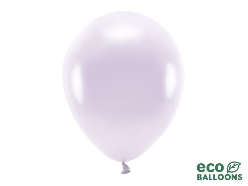 Eco Balloons 30cm metallic, lilac (1 pkt / 10 pc.) Globos Party Deco