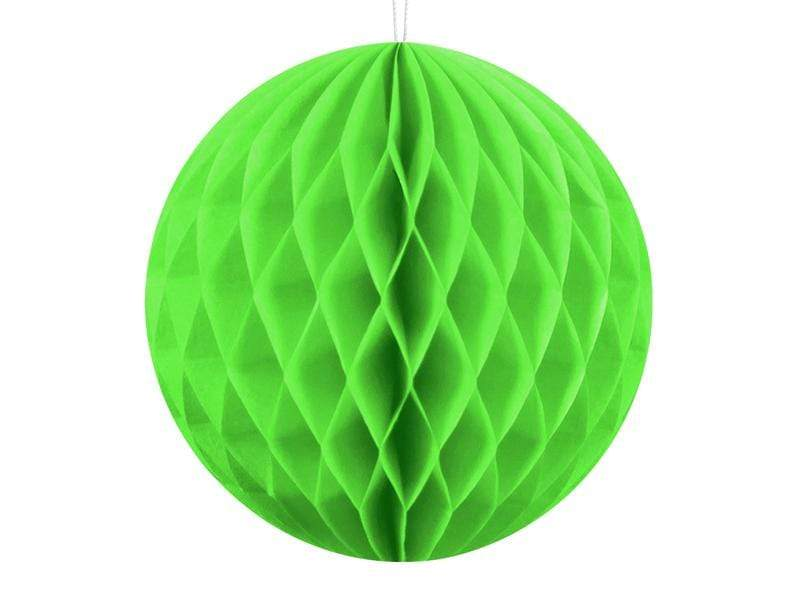 Party Deco Nido de Abeja Honeycomb Ball, apple green, 10cm