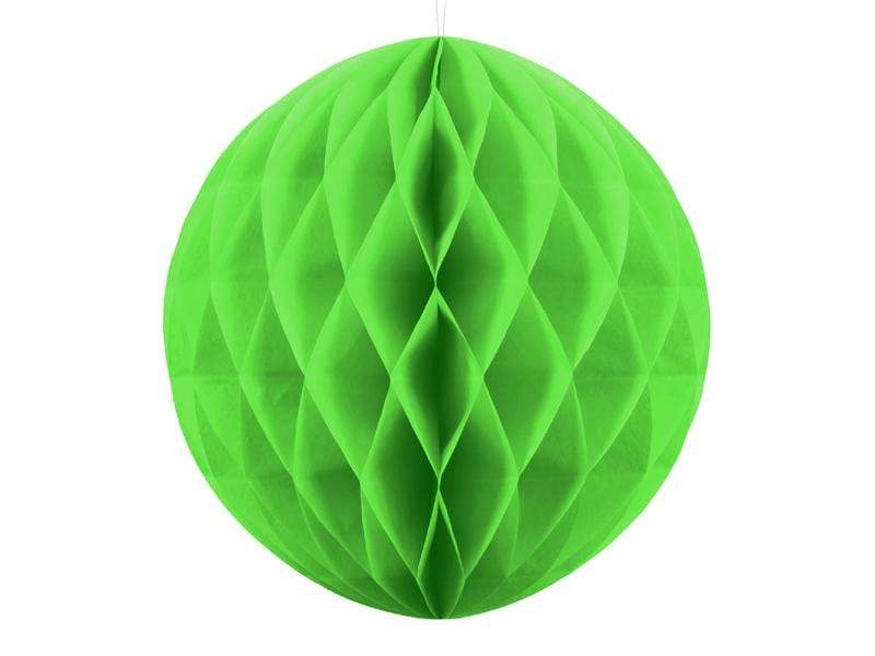 Party Deco Nido de Abeja Honeycomb Ball, apple green, 20cm