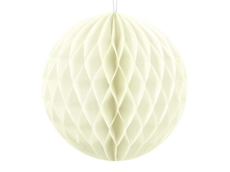 Party Deco Nido de Abeja Honeycomb Ball, light cream, 10cm