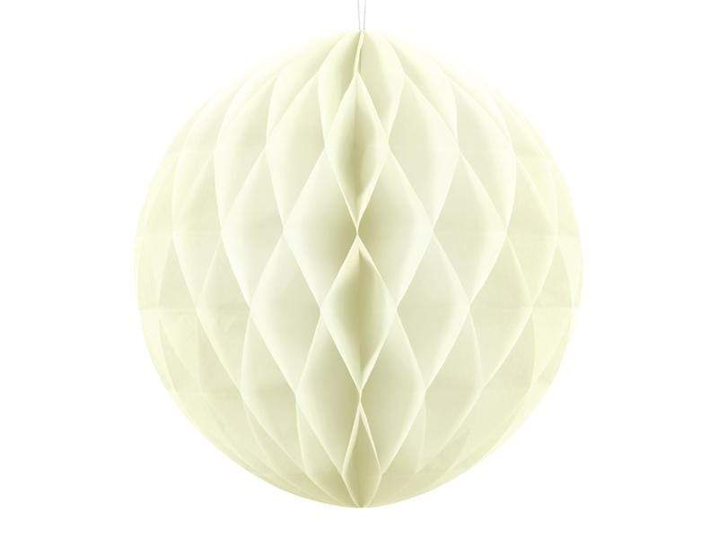 Party Deco Nido de Abeja Honeycomb Ball, light cream, 20cm