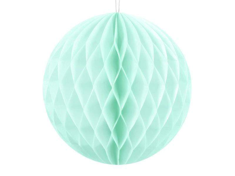 Party Deco Nido de Abeja Honeycomb Ball, light mint, 10cm