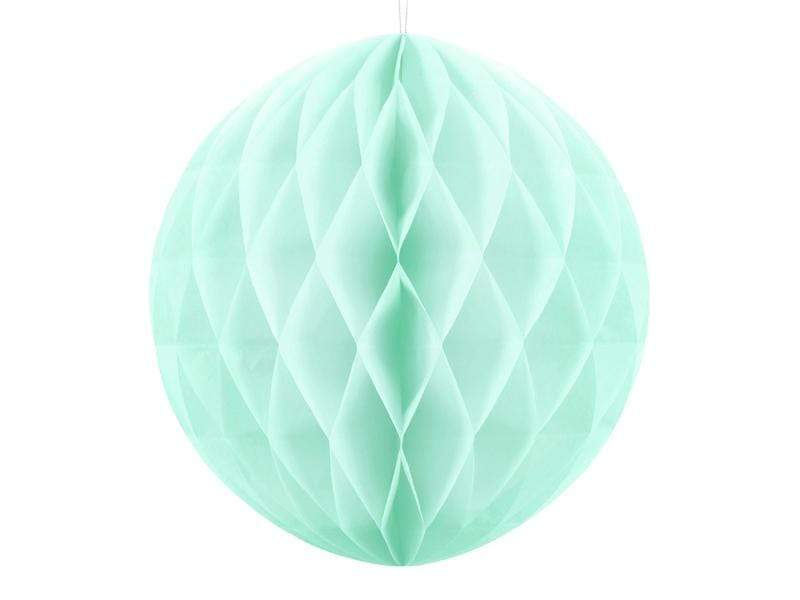 Party Deco Nido de Abeja Honeycomb Ball, light mint, 30cm