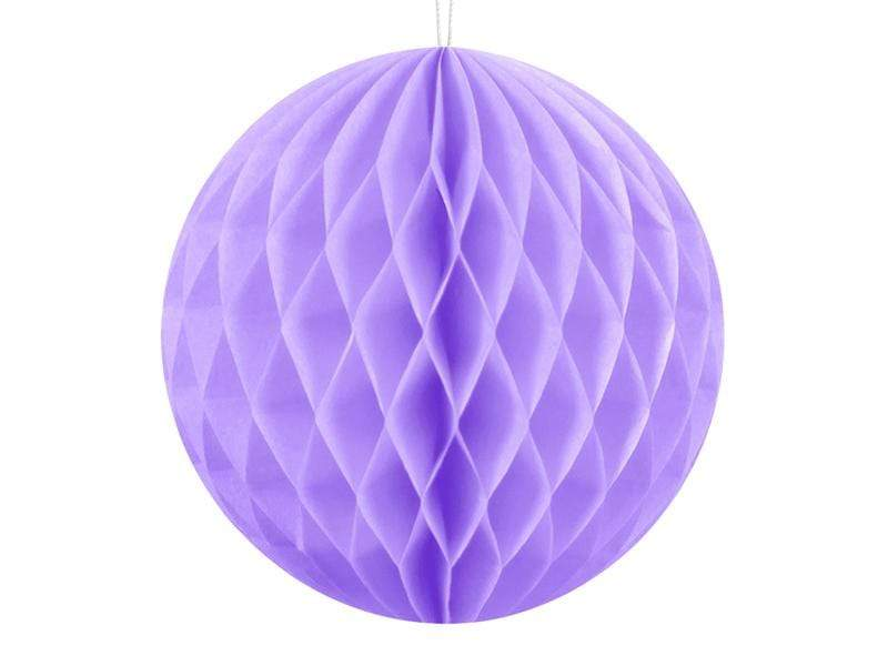 Party Deco Nido de Abeja Honeycomb Ball, lilac, 10cm