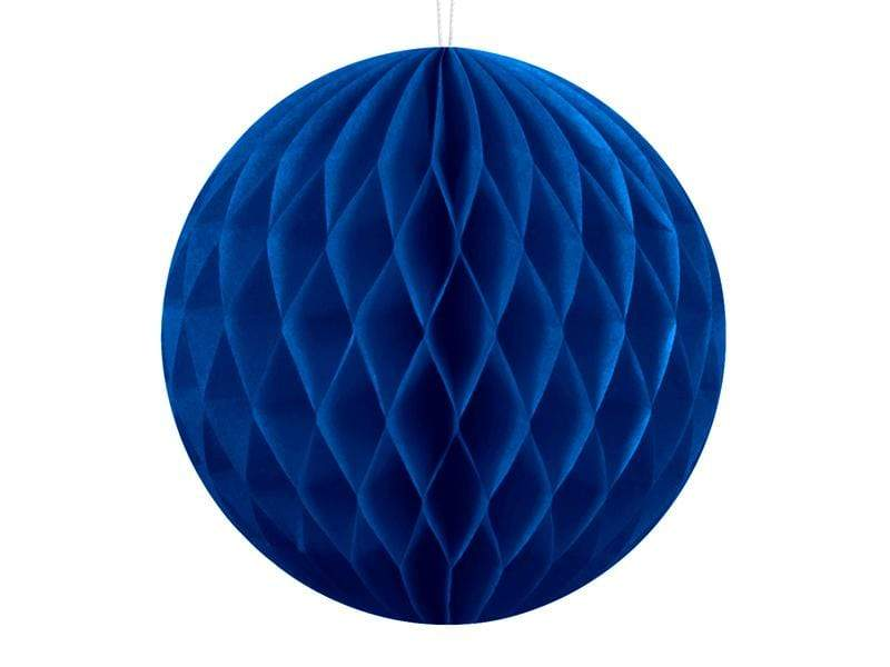 Party Deco Nido de Abeja Honeycomb Ball, navy blue, 10cm