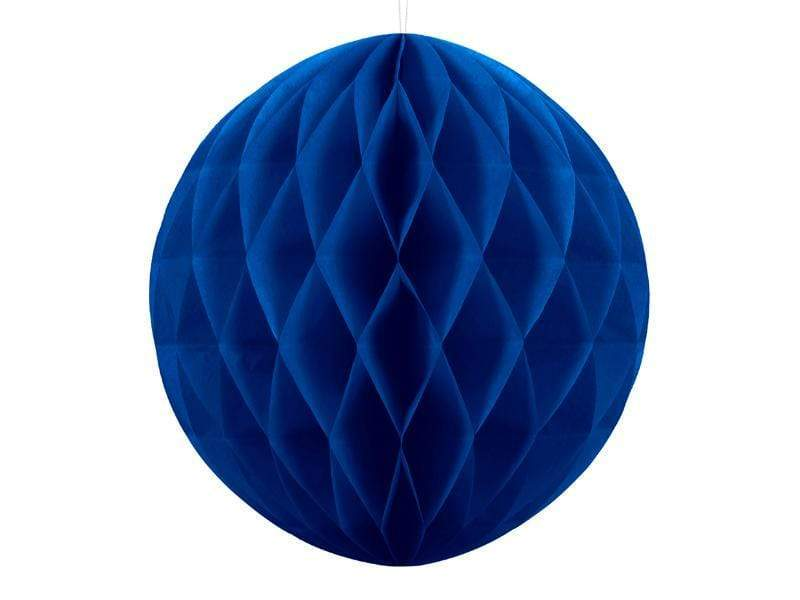 Party Deco Nido de Abeja Honeycomb Ball, navy blue, 40cm