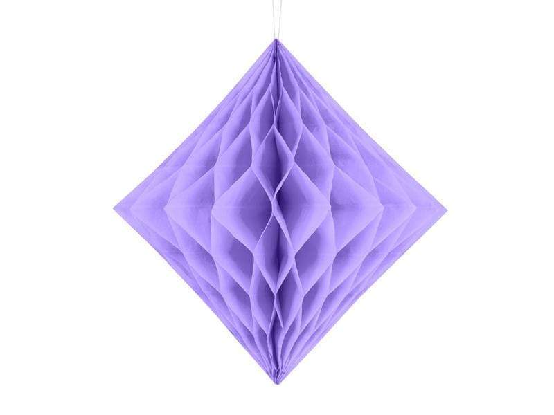 Honeycomb Diamond, lilac, 20cm Nidos de Abeja Party Deco