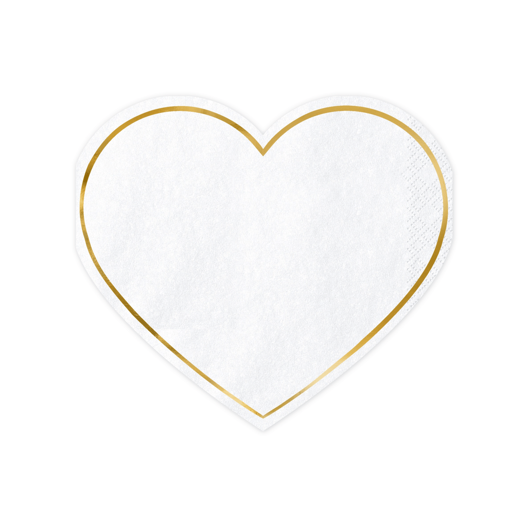 Napkins Heart, 14.5x12.5cm: 1pkt/20pc. Servilletas Party Deco