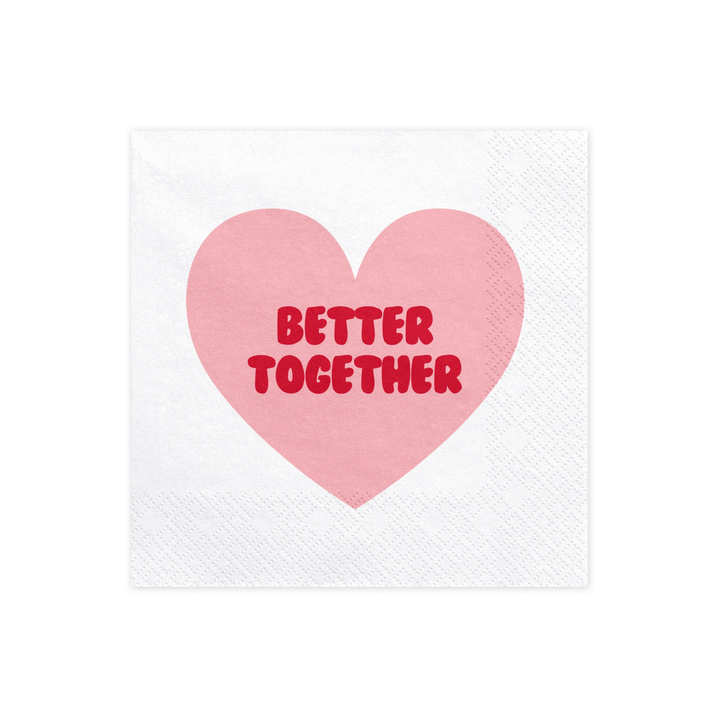 Napkins Sweet, Love, 33x33cm, 1pkt/20pc. Servilletas Party Deco