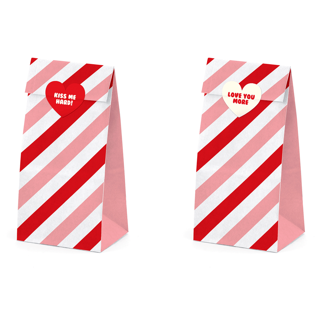 Treat bags Sweet, Love: 1pkt/6pc. Servilletas Party Deco