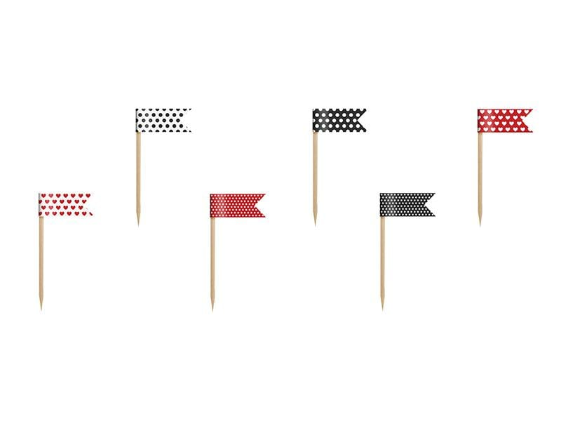 Cupcake Toppers Mini Flags Ladybug, mix, 7cm (1 pkt / 6 pc.) Toppers Party Deco