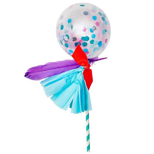 Globo Decorado Fancy Pop Unicornio - 1 Pza Globos Poppies for Grace