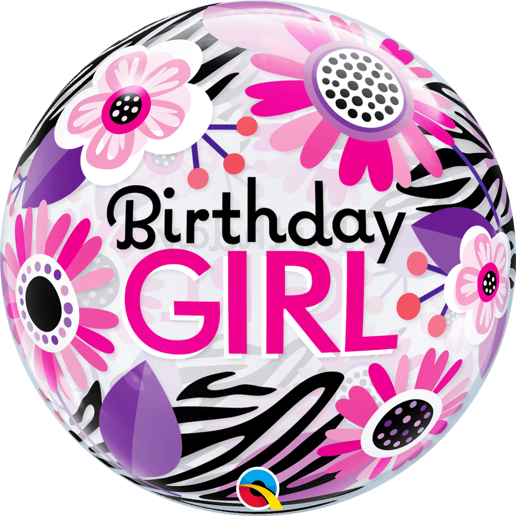 "Burbuja Sencilla Happy Birthday Girl 22"" - 1 pza Globos Qualatex"