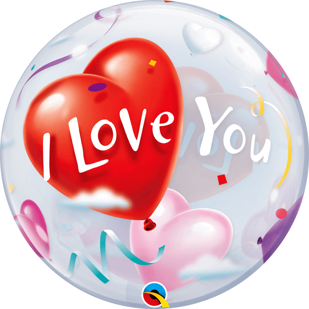 Burbuja Sencilla I Love you - 1 pza Globos Qualatex Default