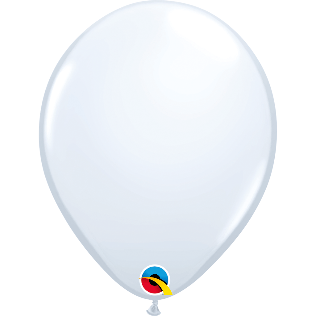 "Globo Latex 11"" Blanco - 1 pza Globos Qualatex"