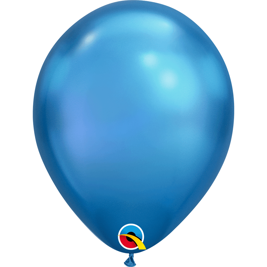 "Globo Latex 11"" Cromado Azul - 1 pza Globos Qualatex"