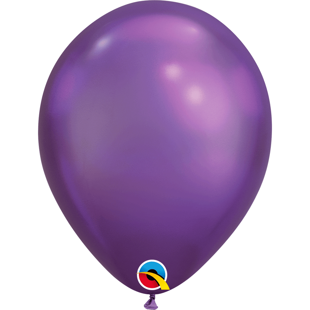 "Globo Latex 11"" Cromado Purpura - 1 pza Globos Qualatex"