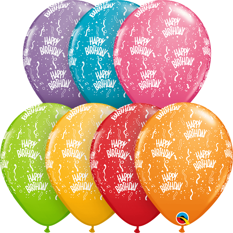 "Globo Latex 11"" Happy Birthday - 1 pza."