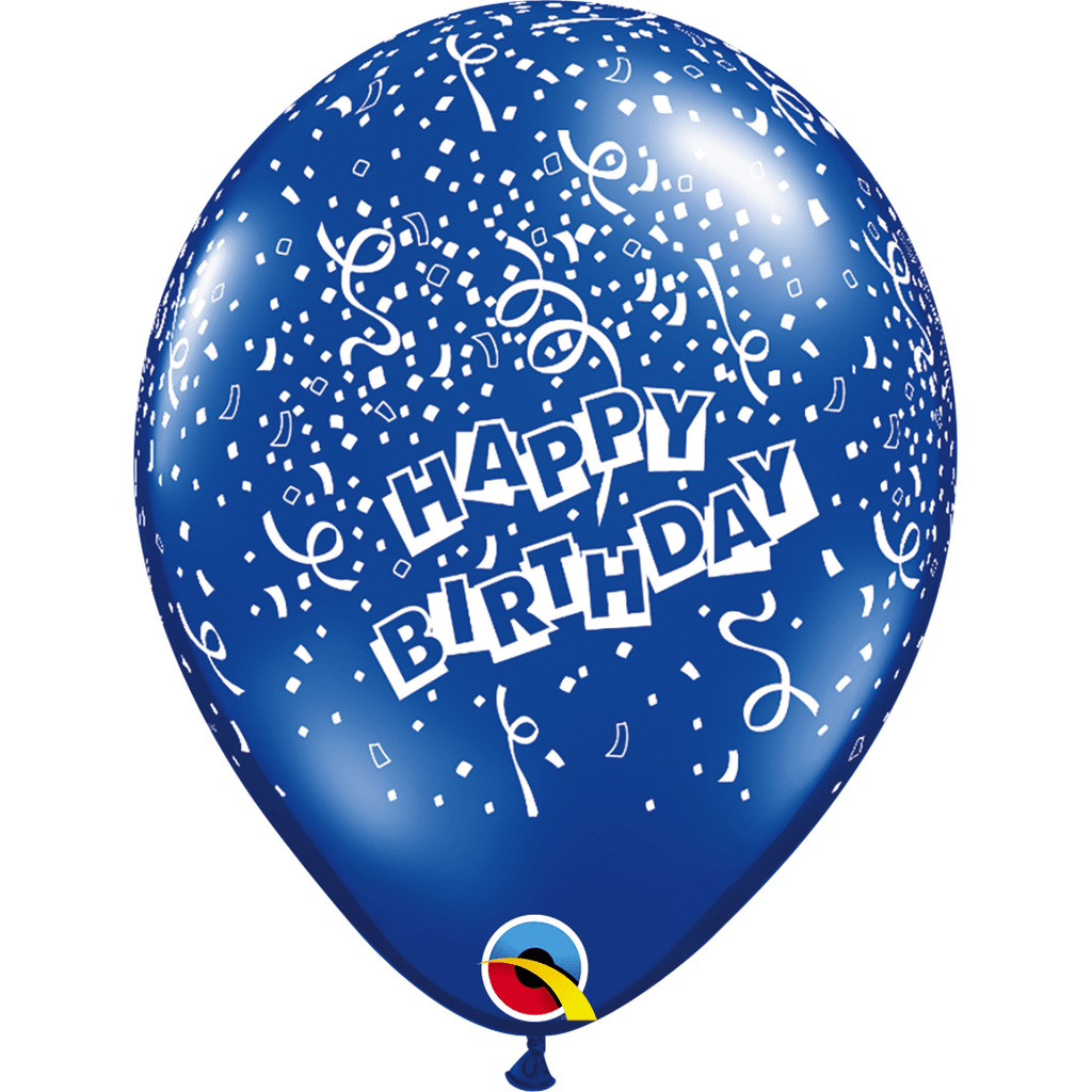 "Globo Latex 11"" Happy Birthday Confetti - 1 pza."