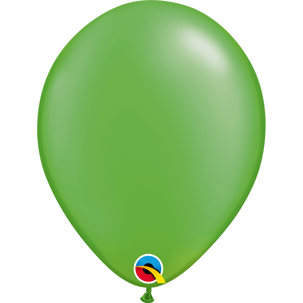 "Globo Latex 11"" Verde Lima Nacarado - 1 pza Globos Qualatex"