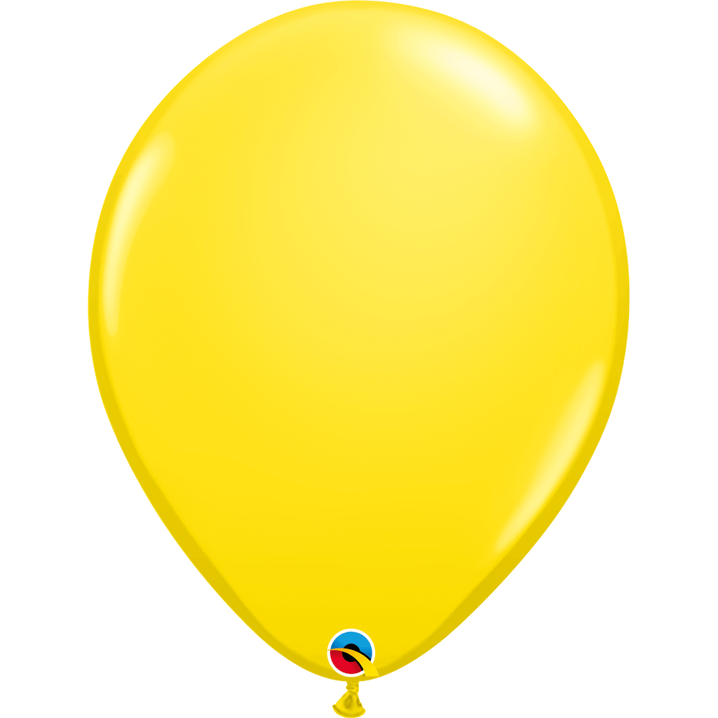 "Globo Latex 16"" Amarillo - 1 pza Globos Qualatex"