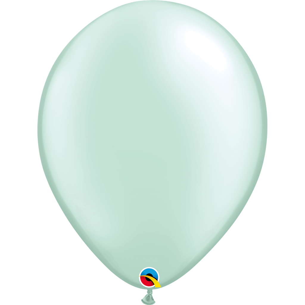 "Globo Latex 16"" Verde Menta Nacarado - 1 pza Globos Qualatex"