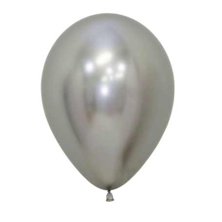 "Globo Latex 5"" Cromado Plata - 1 pza Globos Qualatex"