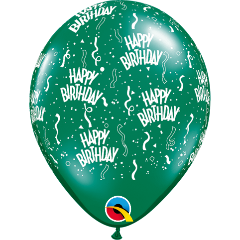 "Globo Latex 5"" Happy Birthday - 1 pza."