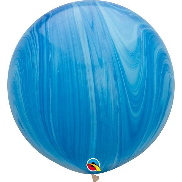 Globo Latex Gigante Agatha Azul 3' - 1 Pza Globos Qualatex
