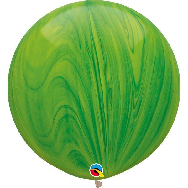 Globo Latex Gigante Agatha Verde 3' - 1 pza Globos Qualatex