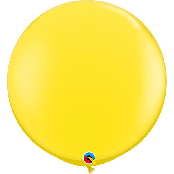 Globo Latex Gigante Amarillo 3´ - 1 Pza Globos Qualatex