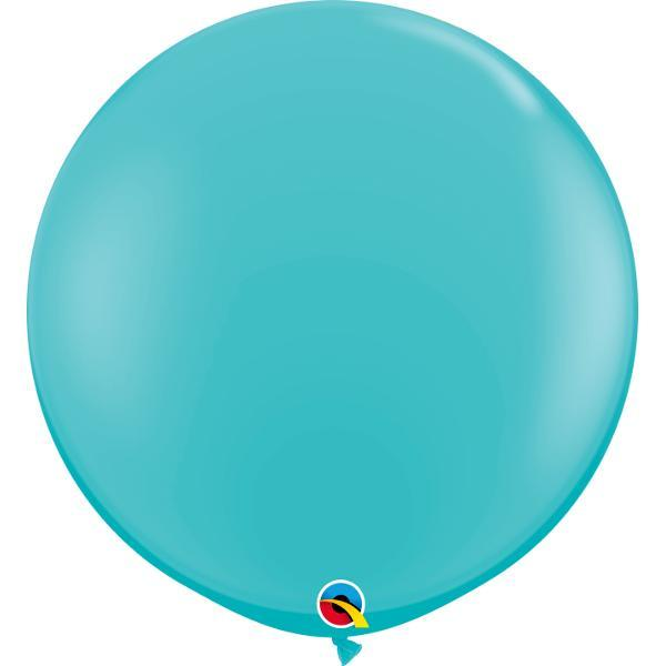 Globo Latex Gigante Azul Caribe 3' - 1 pza Globos Qualatex