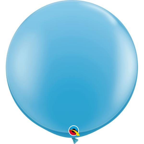 Globo Latex Gigante Azul Claro 3' - 1 Pza Globos Qualatex