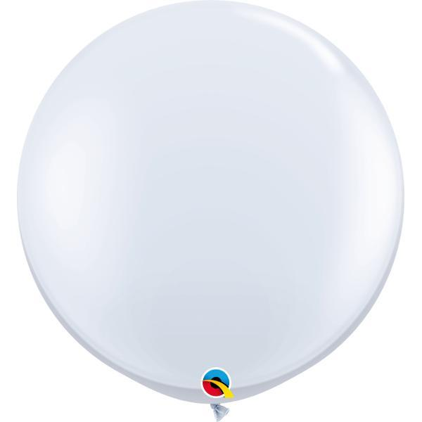 Globo Latex Gigante Blanco 3´ cms - 1 Pza Globos Qualatex
