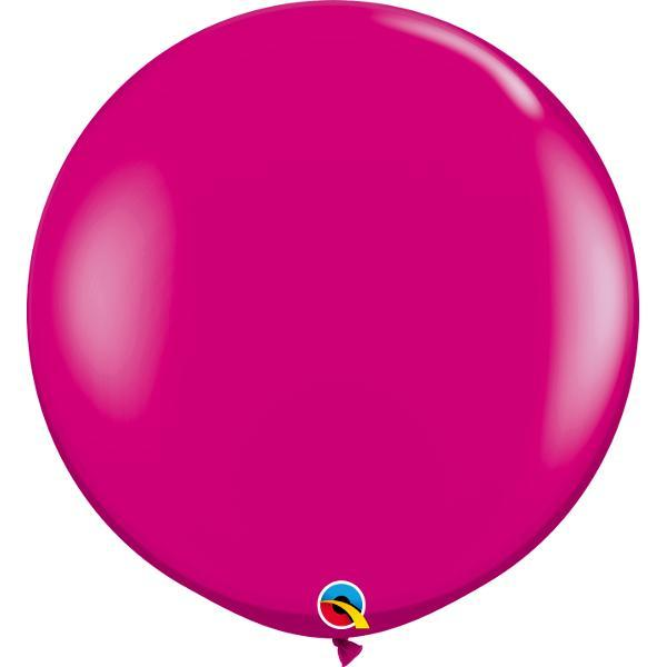 Globo Latex Gigante Cereza Intenso 3' - 1 Pza Globos Qualatex