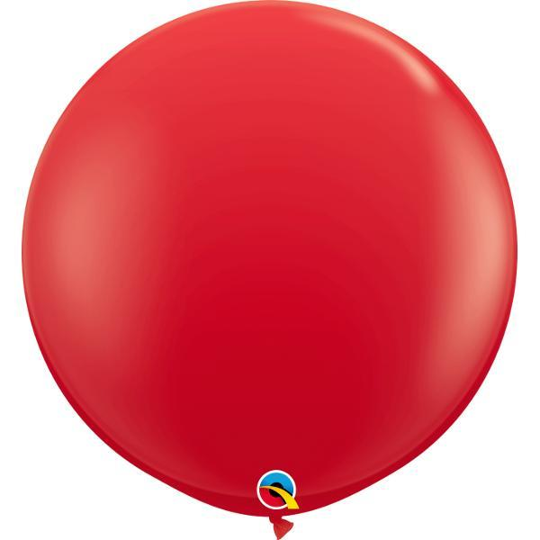 Globo Latex Gigante Rojo 3' - 1 Pza Globos Qualatex
