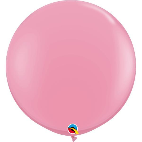 Globo Latex Gigante Rosa 3' - 1 Pza Globos Qualatex