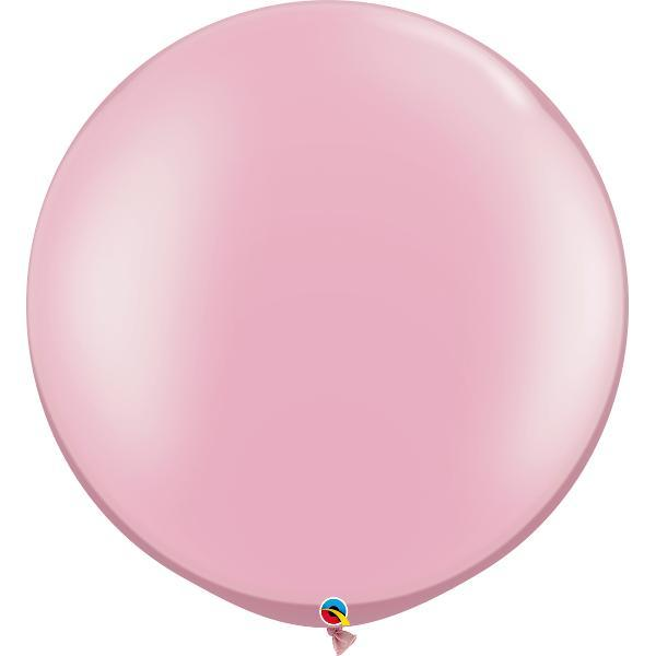 Globo Latex Gigante Rosa Nacarado 3' - 1 Pza Globos Qualatex