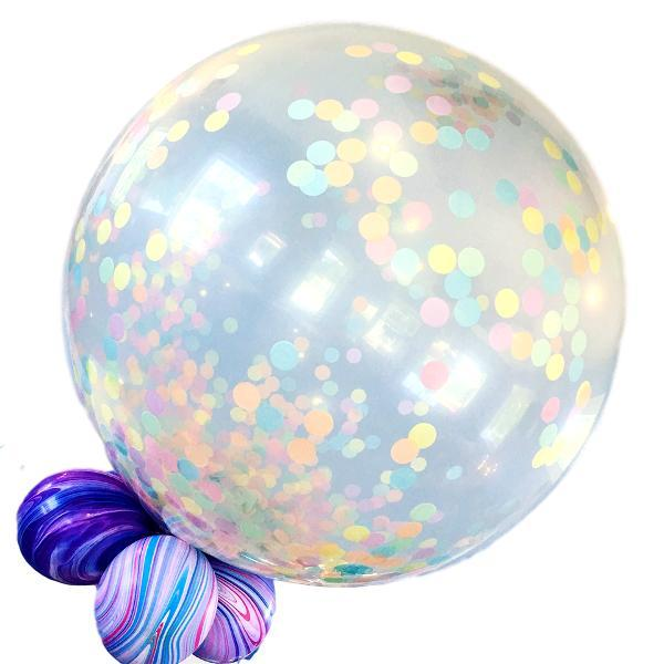 Globo Latex Gigante Transparente 3' - 1 Pza Globos Qualatex
