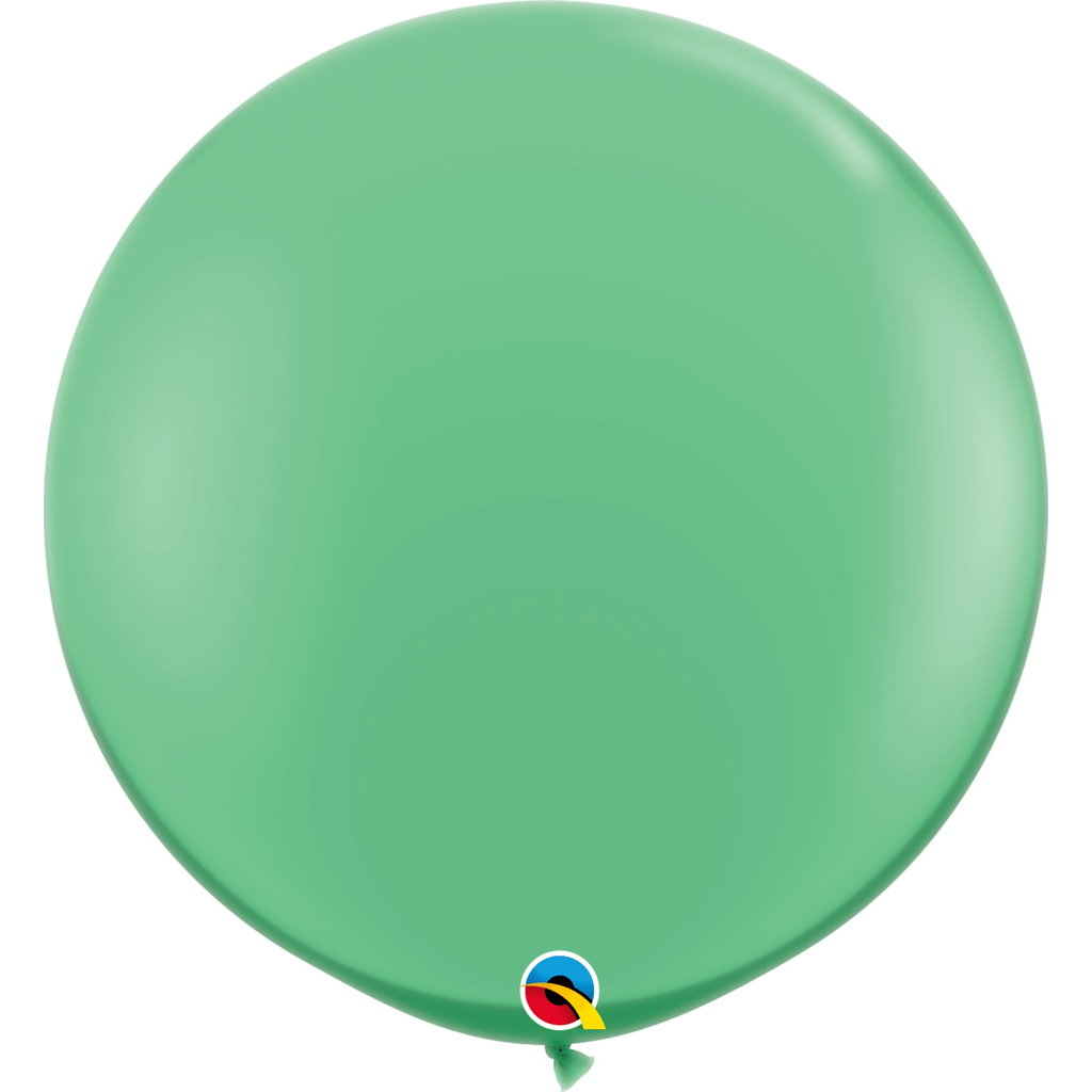 Globo Latex Gigante Verde Invierno 3' - 1 pza Globos Qualatex