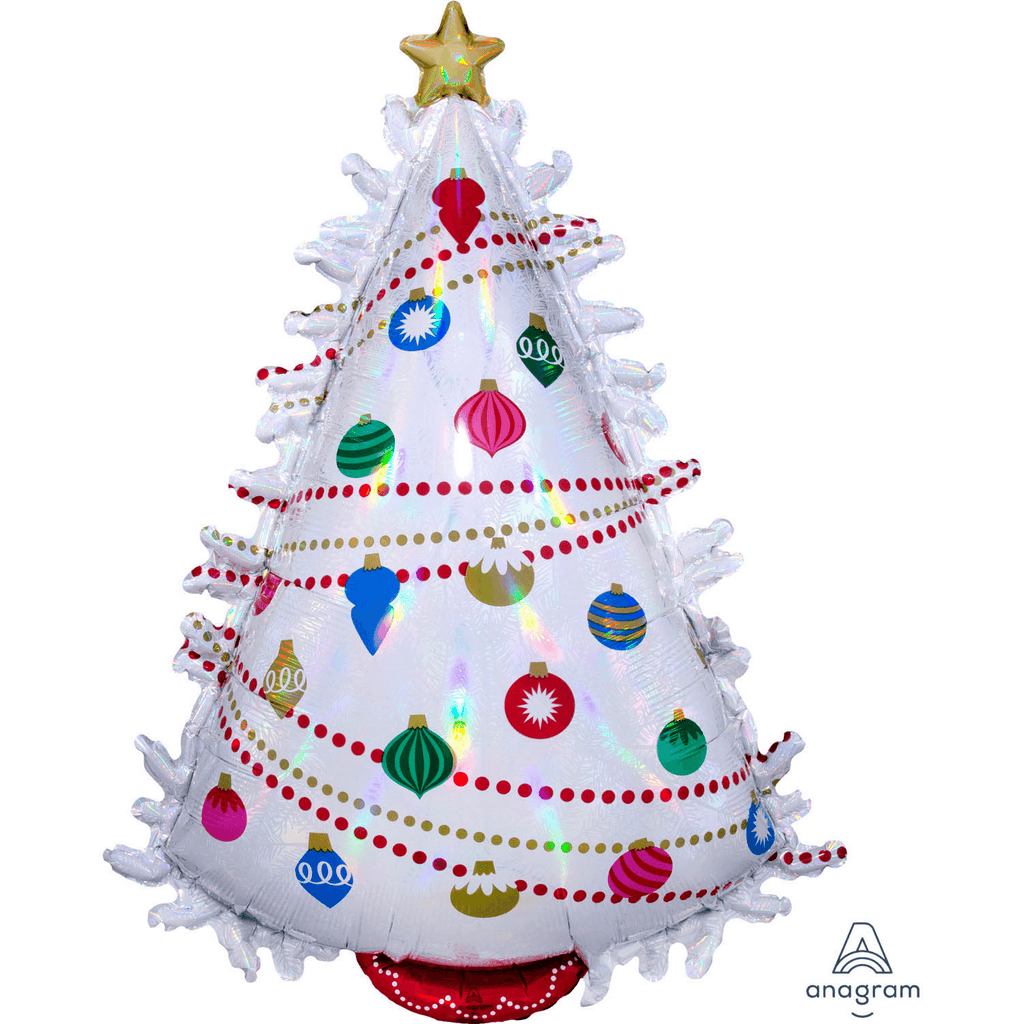 Globo Metálico Iridescent Christmas Tree 90 cms - 1 pza Globos Qualatex