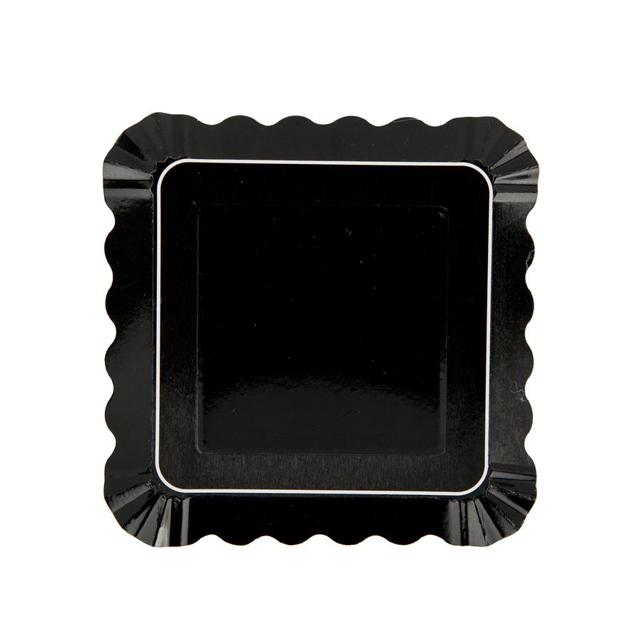 Appetizer Plate Grande Negro - 12 pzas Platos Simply Baked