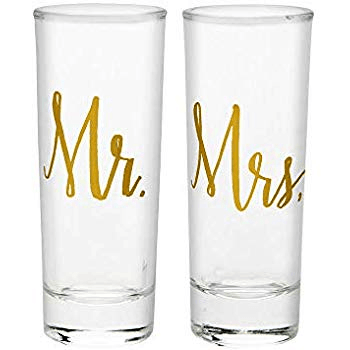 Set de Shots Mr & Mrs 2oz  - 2 pzas.