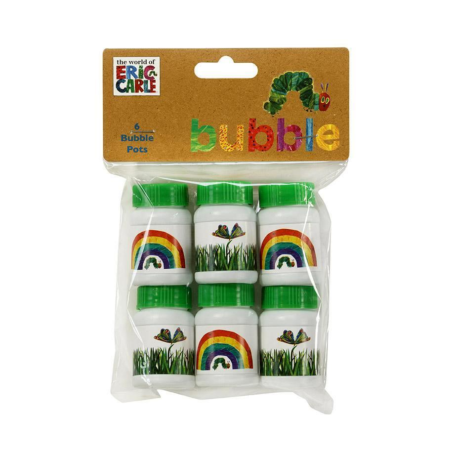 Burbujas The Very Hungry Caterpillar - 6 pzas Accesorios Talking Tables
