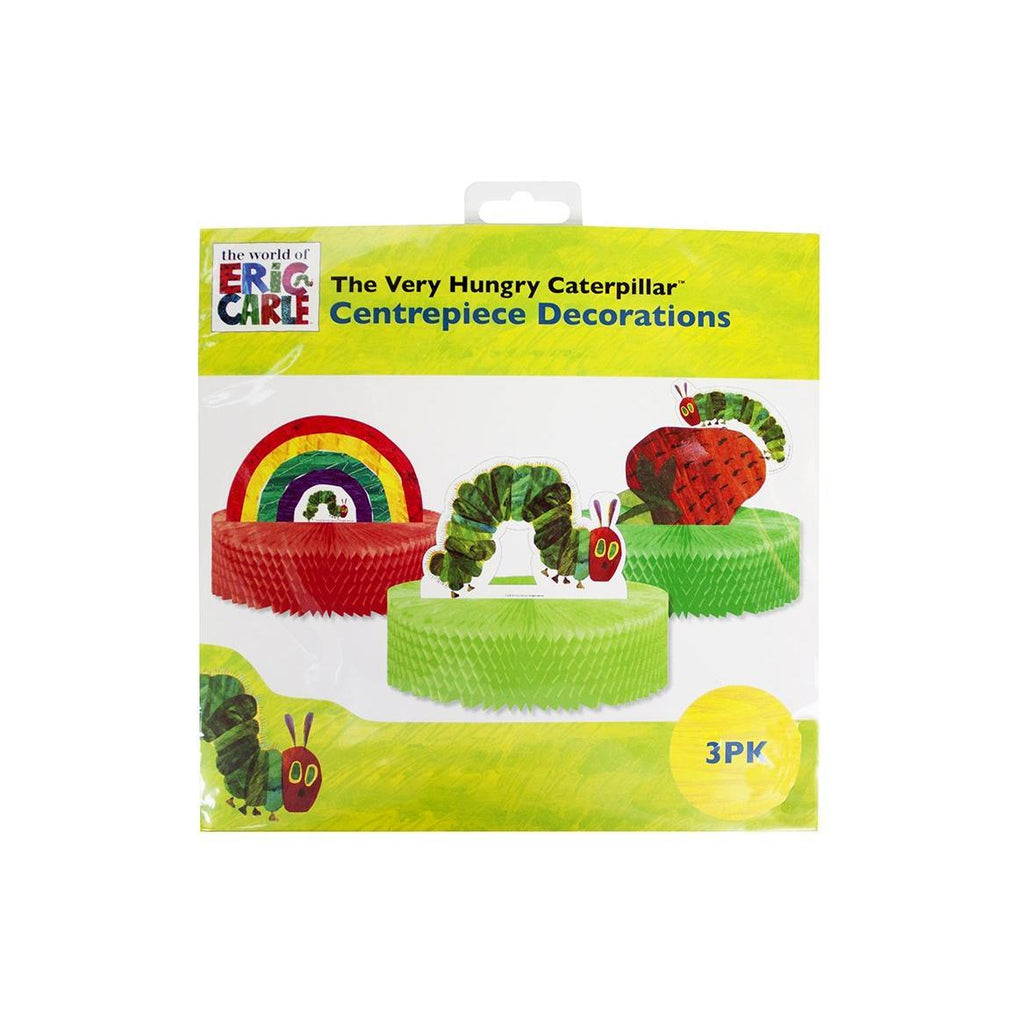 Centros de Mesa The Very Hungry Caterpillar - 3 pzas Displays Talking Tables